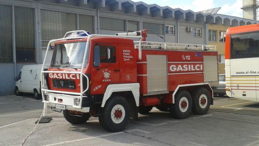 Gasilsko vozilo TAM 190 T 15 v Črnučah (PGD Verd, 2013-08)