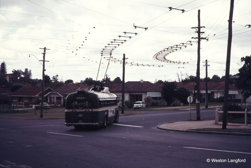 Grantham Street and Brookdale Street Route 77 Eastbound Sunbeam Trolleybus 869