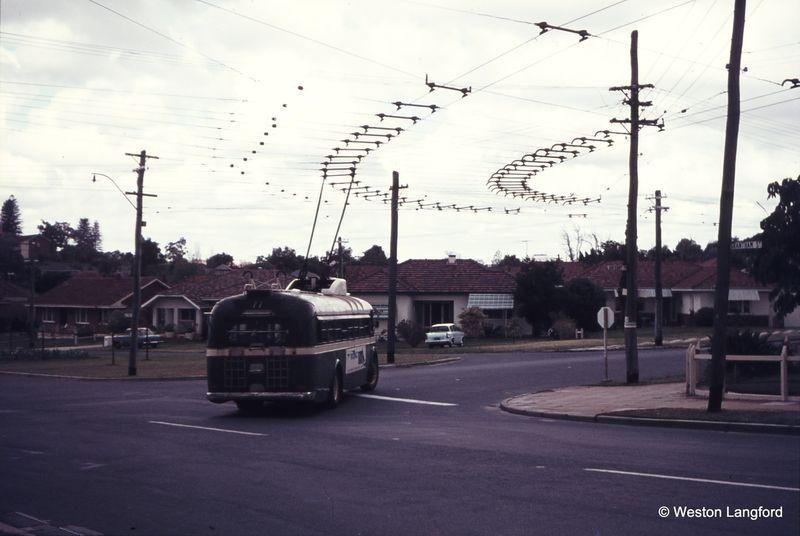 Grantham Street and Brookdale Street Route 77 Eastbound Sunbeam Trolleybus 869