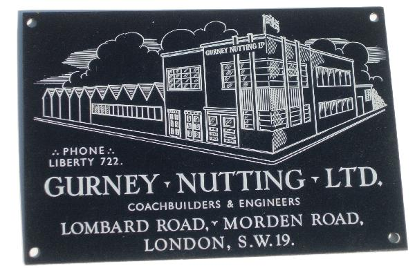 Gurney Nutting Ltd Coachbuilders Plaque