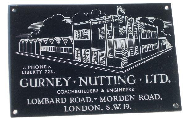Gurney Nutting Ltd Coachbuilders Plaque