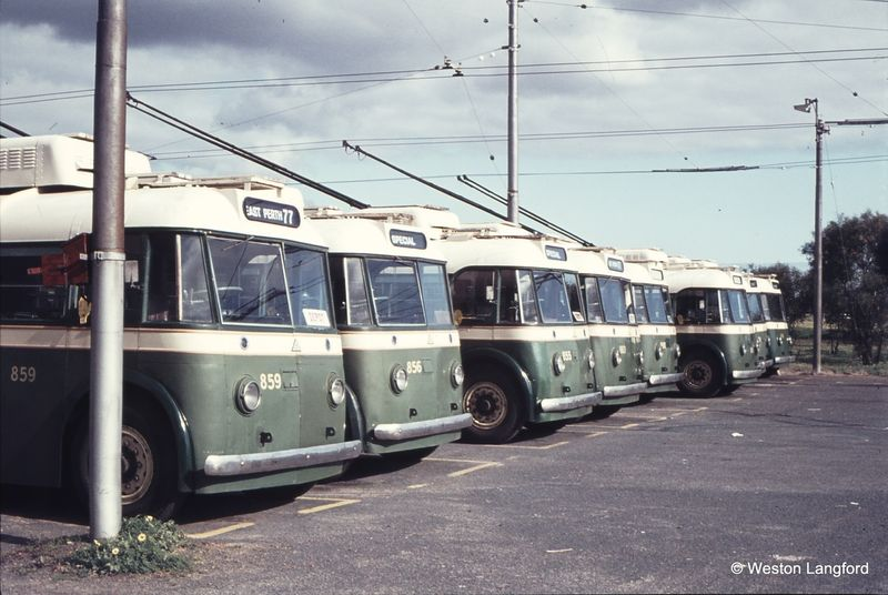 Hay Street East Trolley Bus Depot Sunbeam Trolleybuses 859