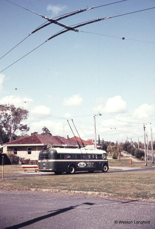 Oceanic Drive Terminus Route 77 Eastbound Sunbeam Trolleybus 856