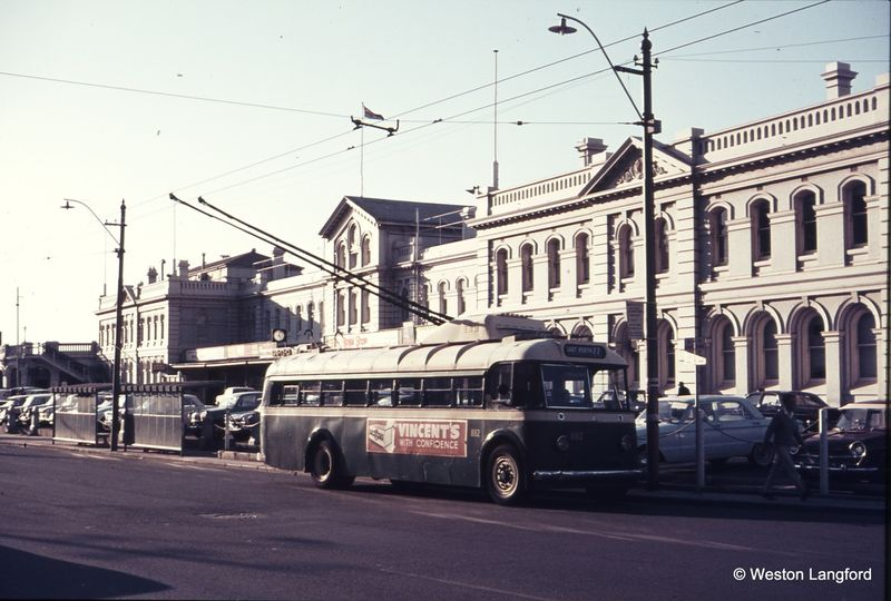 Perth Station Wellington Street Eastbound Sunbeam Trolleybus 882