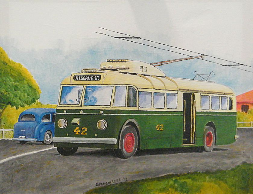 Perth Trolley Bus, Sunbeam No 42, on the Wembley Route