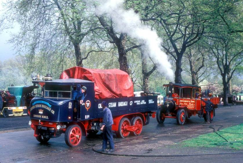 Sentinel Steam Truck GF 8655 and Foden Steam Wagon