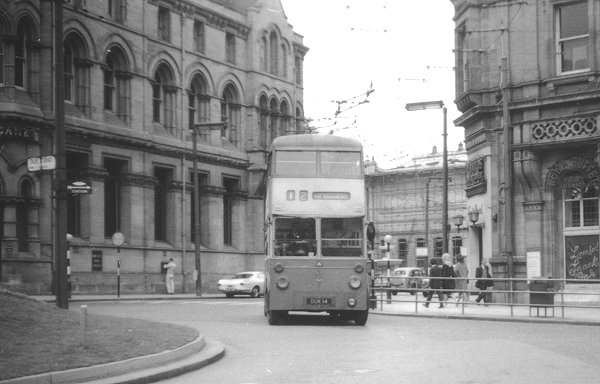 Sunbeam trolley bus in Queen Square