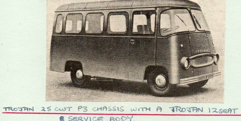 Trojan 25 CWT P3 chassis 12 seater