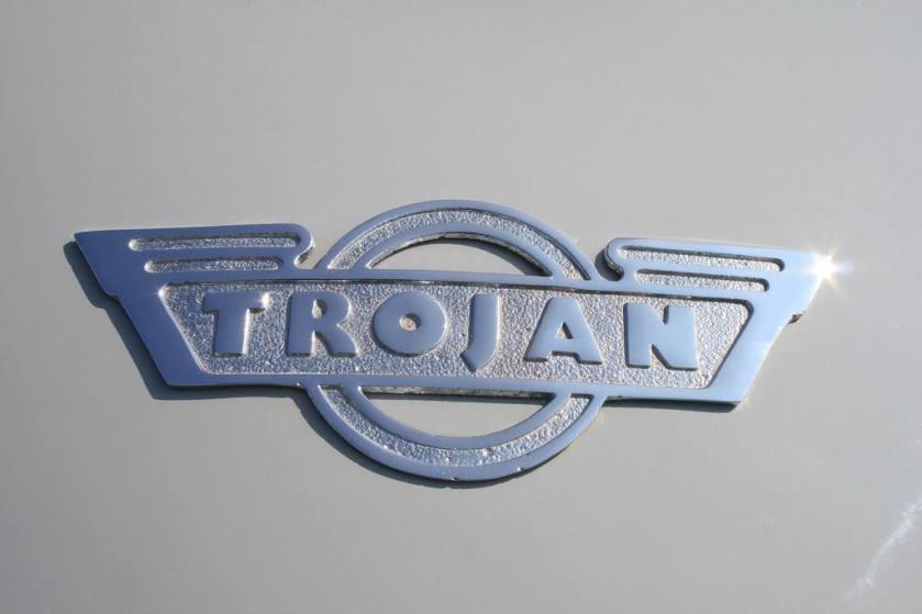 Trojan letter logo
