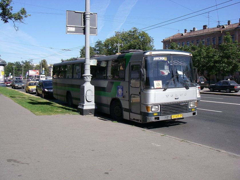002 Volvo B58-60 with Lahti 31 bodywork in Saint Petersburg, originating from Saimaan Osuus-Auto in Lappeenranta, Finland