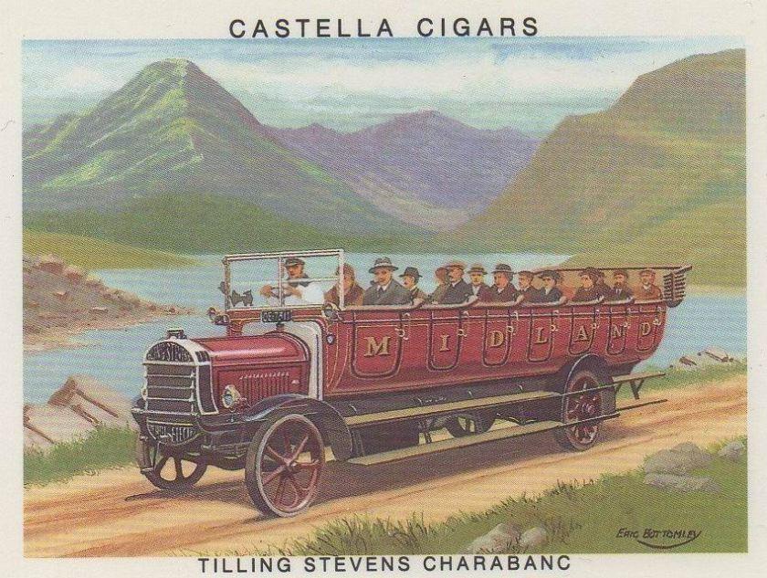 1907 Tilling Stevens Charabanc - Britains Motoring History Card