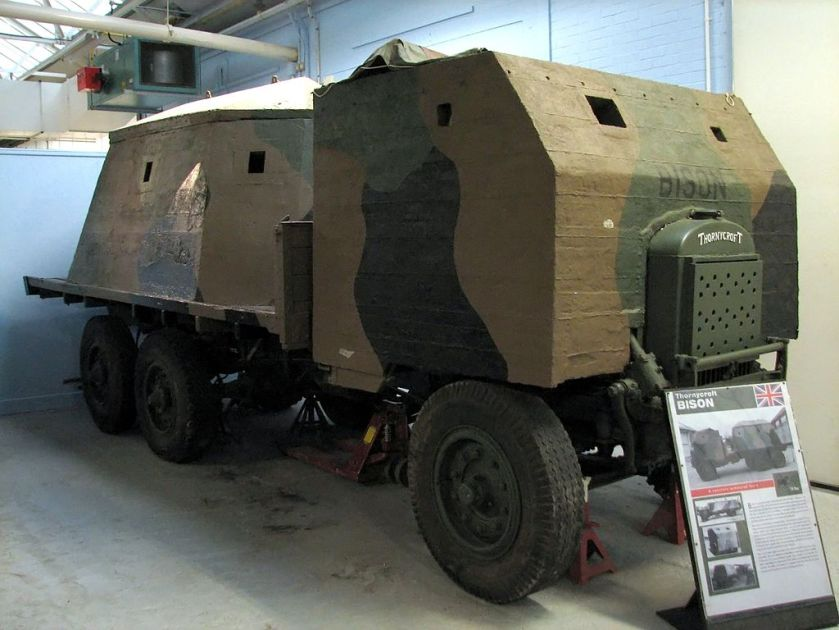 1914 Thornycroft, type 2 Bison on display at Bovington