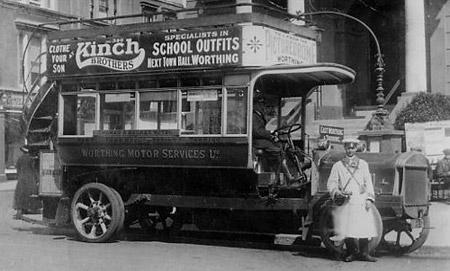 1914 Tilling--Stevens petrol electric omnibus London