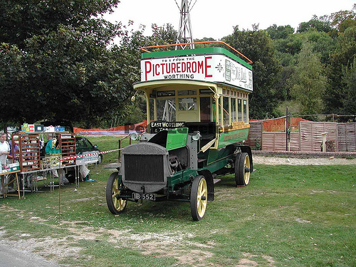 1914 Tilling Stevens TS3 Petrol Electric with 1908 Bus Body