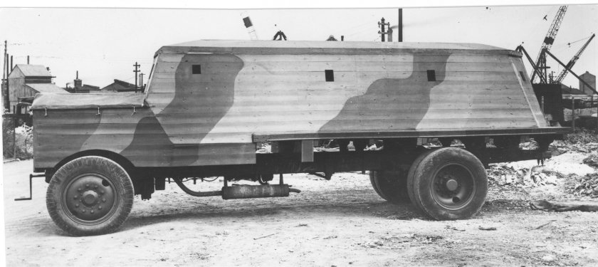 1917 Thornycroft  Bison concrete armoured lorries