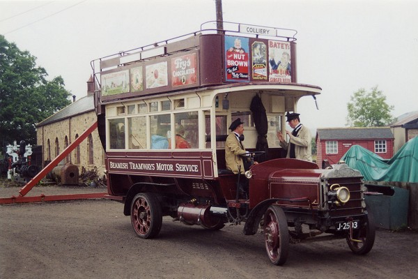1919 THORNYCROFT BUS - BEAMISH TRAMWAYS