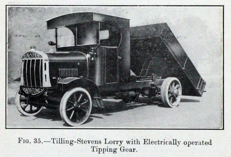 1922 IAE-Tilling1 Lorry with Electrically operated Tipping car