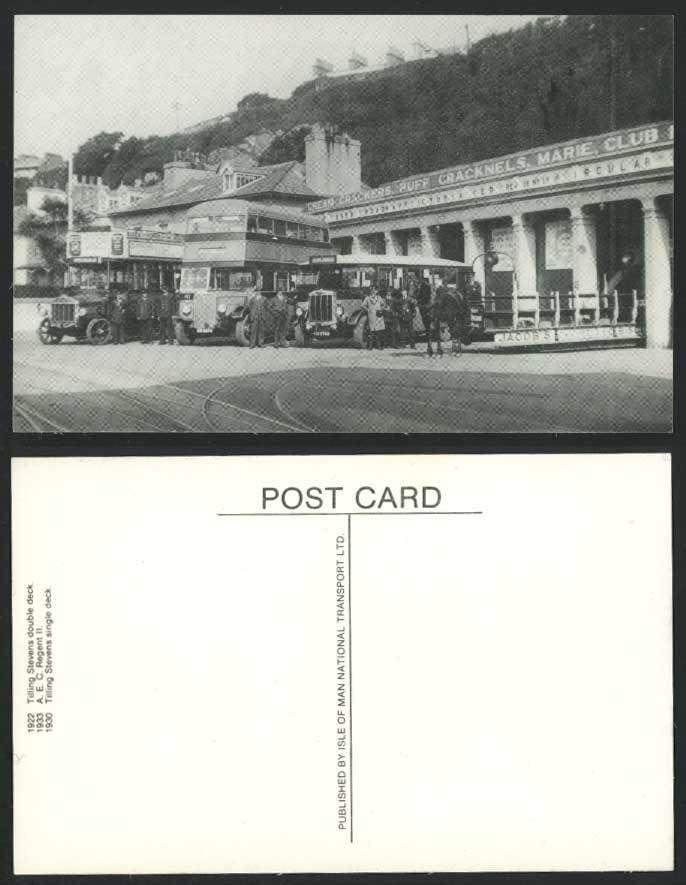 1922 Isle of Man Vintage Buses AEC Regent 2 Tilling Stevens Double Deck 1922 Postcard