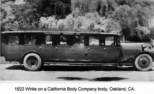 1922 White on a California Body Company body Oakland CA