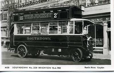 1923 Pamlin-photo-postcard-M58-Southdown-Tilling-Stevens-bus