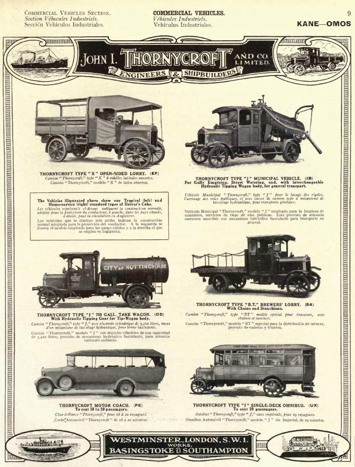 1923 Thornycroft ad
