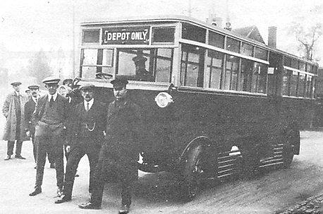 1923 Tilling-Stevens bus1 Wolverhampton