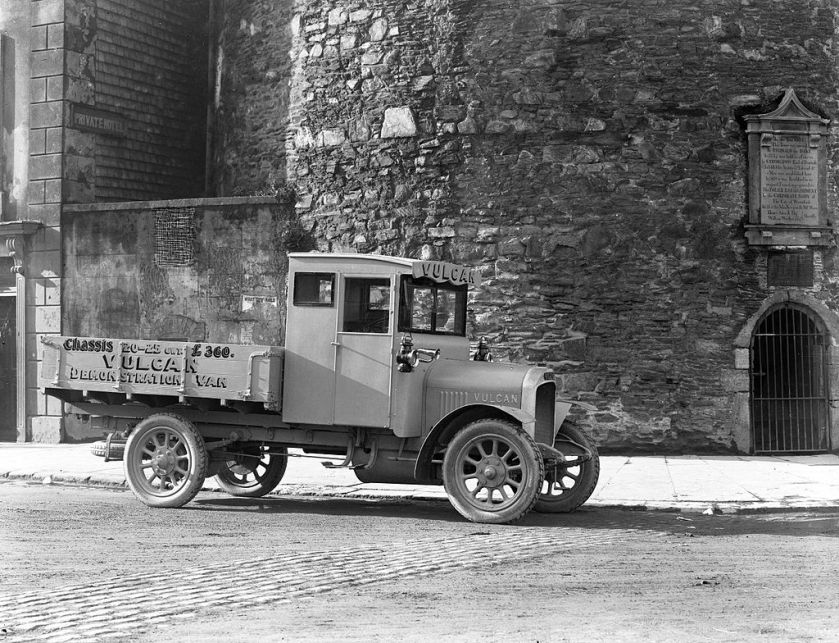 1924 Vulcan demonstration van, £360 in 1924. Shown in Ireland.