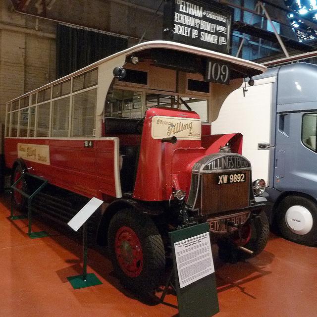1925 Tilling Stevens TS7 Petrol - Electric Hybrid bus XW 9892