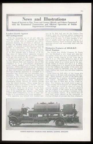 1926 London Tilling-Stevens fire engine truck photo article