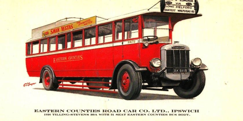 1926 Prescott-Pickup Eastern Counties Road Car Co. 1926 Tilling-Stevens Ref 17128