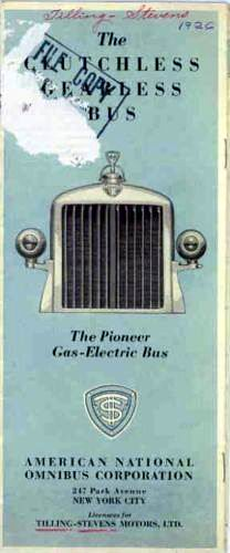 1926 Tilling Stevens Gas Electric Bus US Brochure