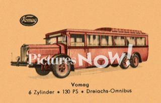 1928 Vomag 6-Cylinder 3 Axle 40 Passenger Bus