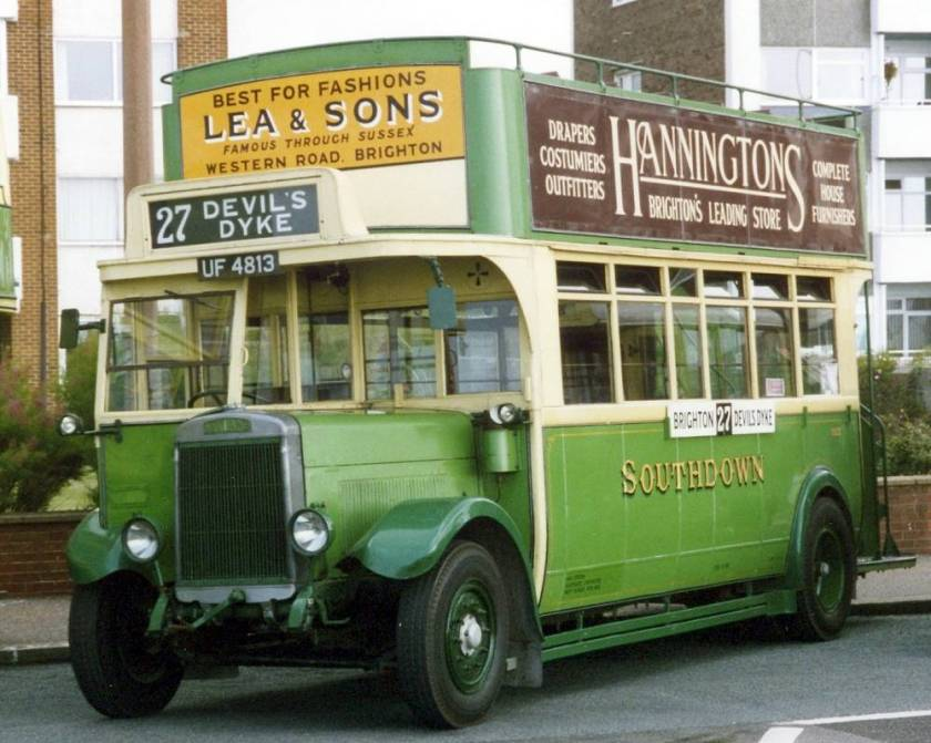 1929 Leyland Titan TD1 with Brush O27-24RO bodywork UF4813