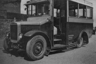 1930 14 seat Vulcan, UX 6439 Danny Gittins 1st bus.