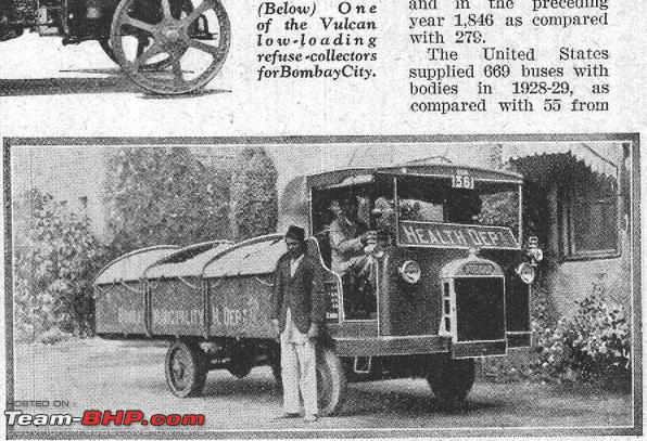 1930 Bombay Vulcan Refuse Truck