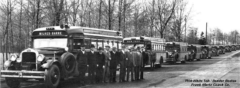 1930 White bus WHITEFRANKMARTZ