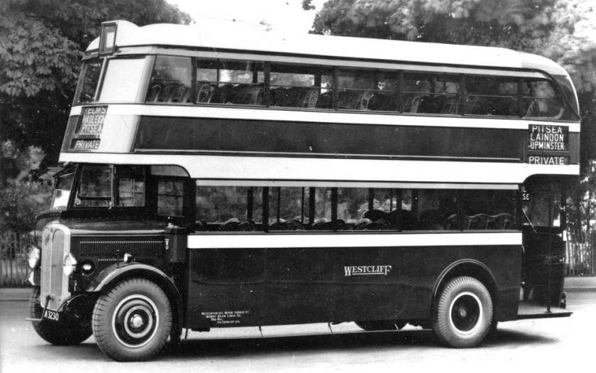 1934 Westcliff AEC Regent JN3230. The Weymann body was rebuilt by ECW in 1943 txwnjn3230
