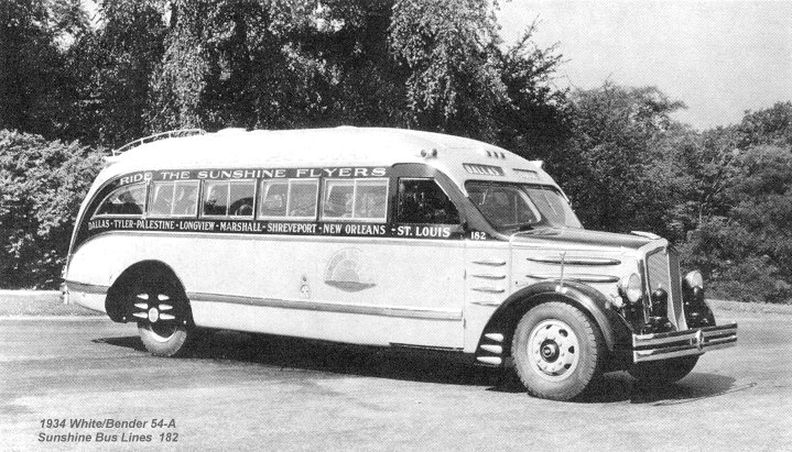 1934 White-Bender 54-A Sunshine Bus Lines 182