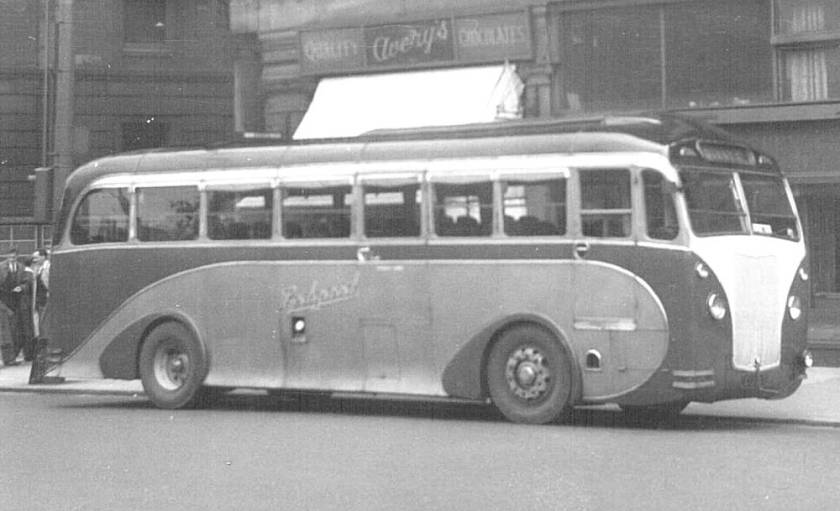 1935 Ledgards famous Brush bodied Maudsley Marathon coach CUB1 in original form