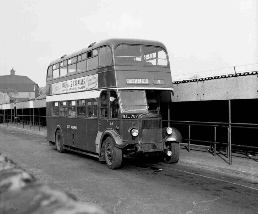 1935 Leyland TD4 dating with a Willowbrook L27-28R body fitted in 1949