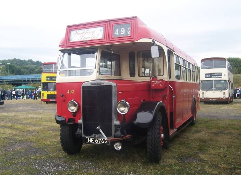 1935 Leyland Tiger TS7 was rebodied by Weymann in 1950