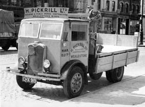 1935 Vulcan 2 ton retriever model truck with dropside body