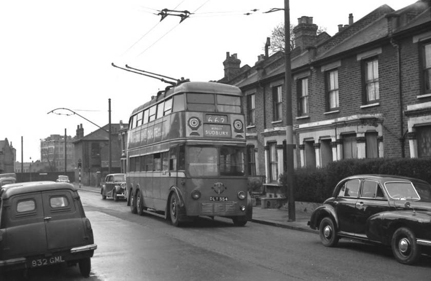 1936 London Transport Class E1 trolleybus 554, DLY554 554