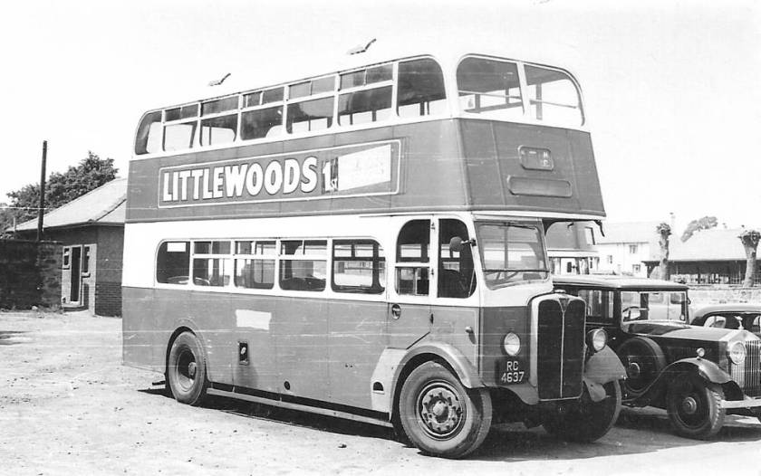 1937 AEC Regent with a Weymann body and rebodied in October 1948 by Willowbrook