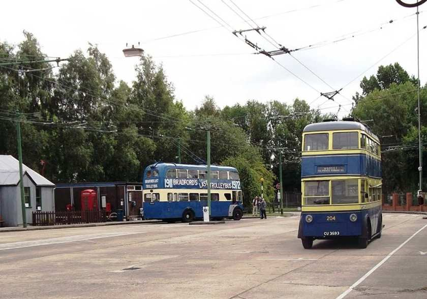 1937 Weymann H29-26R bodied Karrier E4  at Sandtoft Trolleybus Museum in July 2011