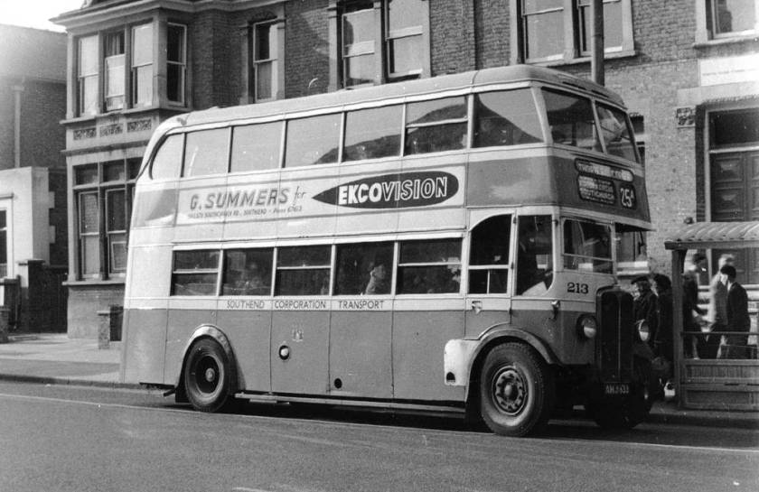 1938 AEC-Weymann double decker 213, AHJ833