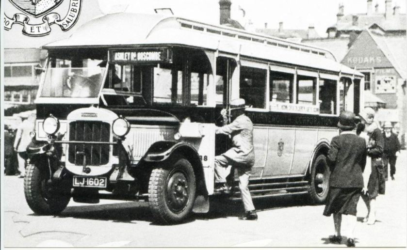 1938 LJ1602 - Thornycroft's of Basingstoke. Destination plate Ashley Road, Boscombe