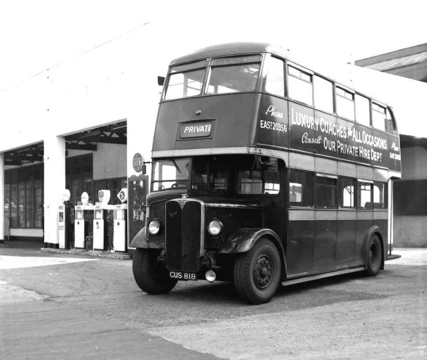 1939 A.E.C. Regents with Weymann H30-26R body cus818