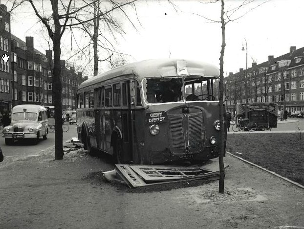 1939 Kromhout-Verheul TB5 Instructiebus 146 NB-47-41, Churchillaan Amsterdam 1955