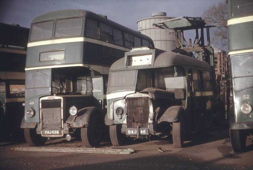 1939 Leyland Tiger TS8 converted to a tower wagon with a Willowbrook body